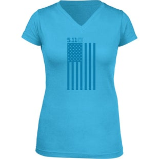 5.11 Tactical Tonal Glory Womens Short Sleeve T-Shirt - Light Blue