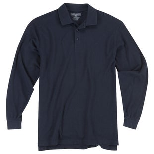 5.11 Tactical Utility Long Sleeve Polo Shirt - Dark Navy