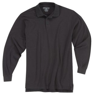 5.11 Tactical Utility Long Sleeve Polo Shirt - Black