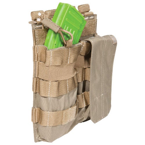5.11 Tactical Double AK Mag Bungee-Cover Mag Pouch - Sandstone