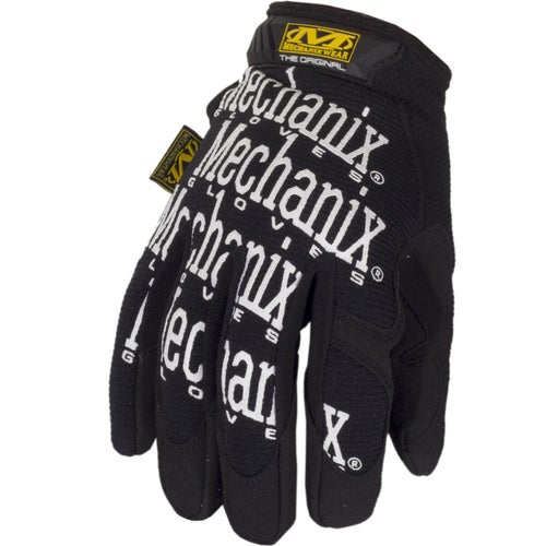 Mechanix Original Covert Gloves - Black w White Logo