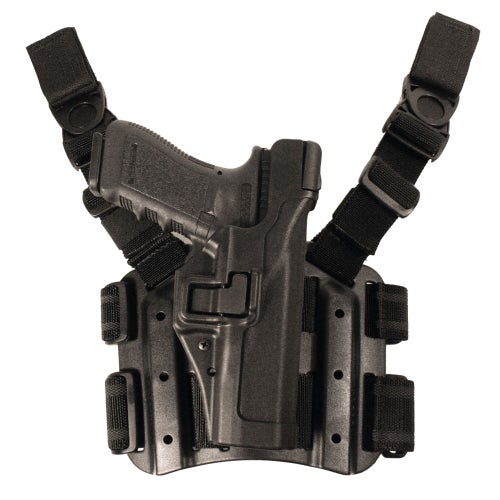 Blackhawk SERPA LV 3 Tactical Glock 17-19-22-23-31-32 Weapon Holster - Black