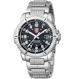 Luminox Mariner 6252 Watch - Silver Black Dial