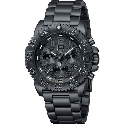 Luminox Navy Seal Colourmark Chronograph 3182BO Watch - Black Black Dial