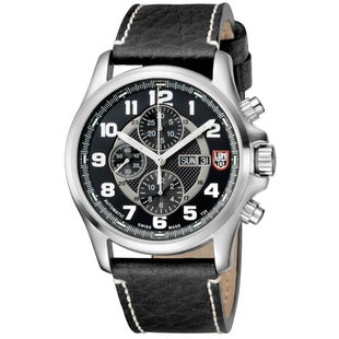 Luminox Field Valjoux Chronograph Alarm 1861 Watch - Silver Black Dial