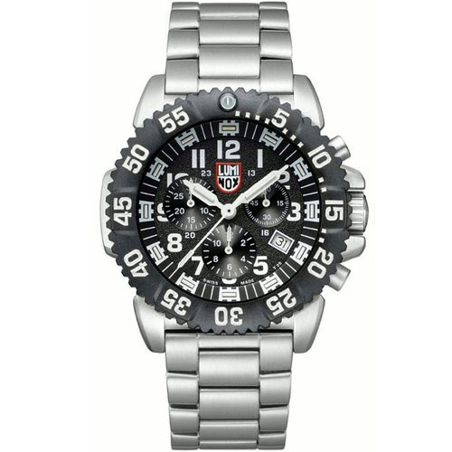 Luminox Navy Seal Colourmark Chronograph 3182 Watch - Silver Black