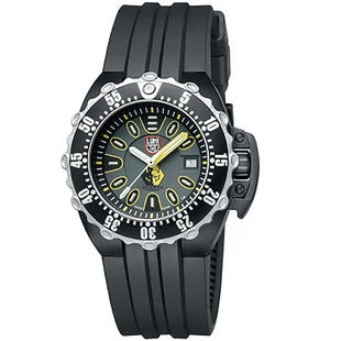Luminox Scott Cassell Specials 1525 Watch - Grey Yellow Dial