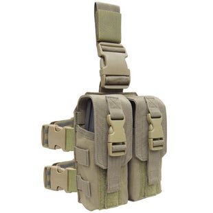 Condor Outdoor M4 Drop Leg Mag Pouch - Tan