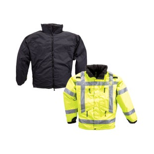 5.11 Tactical 3 in 1 Reversible High Vis Parka Jacket - Black Yellow