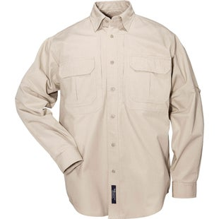 5.11 Tactical Cotton Long Sleeve Shirt - Khaki