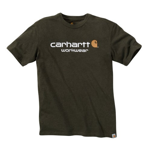 Carhartt Core Logo Short Sleeve T-Shirt - Moss Heather
