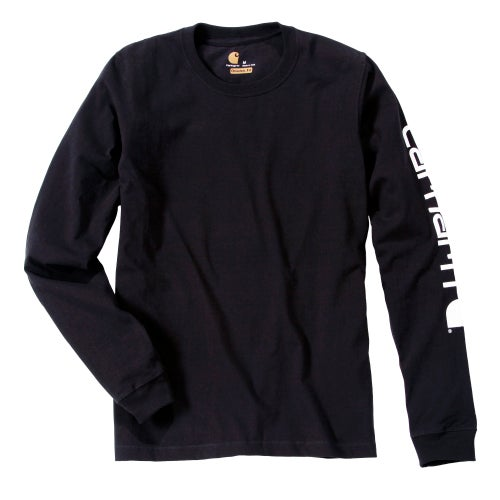 Carhartt Sleeve Logo T-shirt L/s Long Sleeve T Shirt - Black