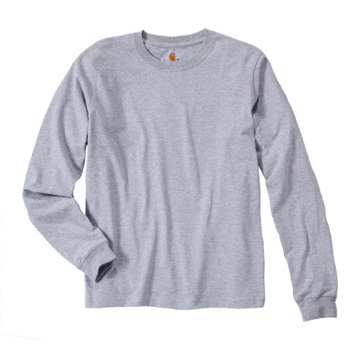 Carhartt Sleeve Logo T-shirt L/s Long Sleeve T Shirt - Heather Grey