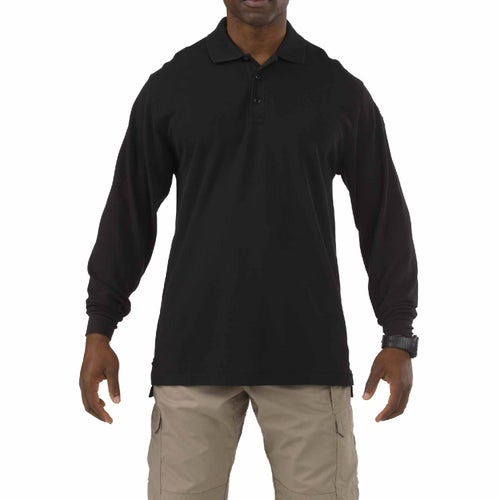 5.11 Tactical Professional LS Polo Shirt - Black