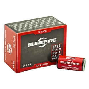 Surefire Battery 123A 3 Volt Lithium Batteries - 12 Pack