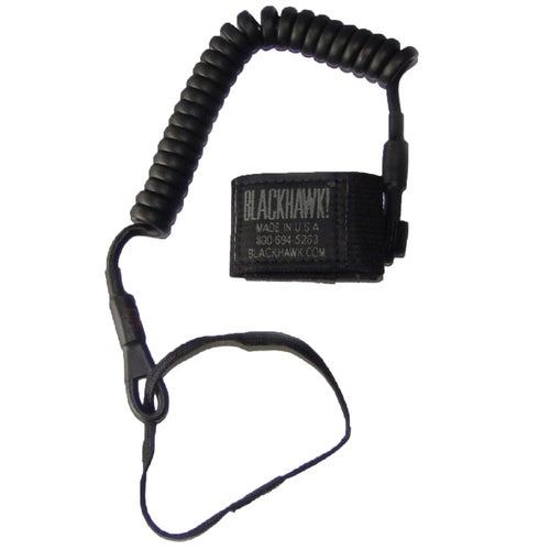 Blackhawk Coiled Pistol Lanyard - Black