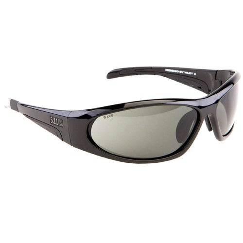 5.11 Tactical Ascend Sunglasses - Gloss Black Frame ~ Plain Smoke Lens