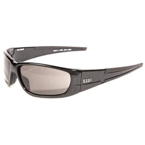 5.11 Tactical Climb Polarised Sunglasses - Gloss Black Frame ~ Smoke Lens