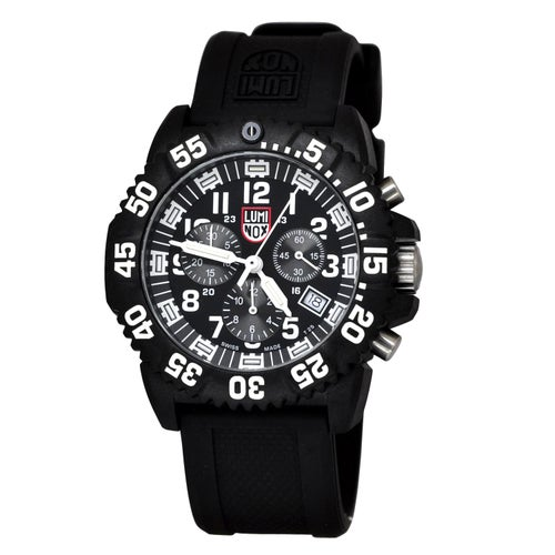 Luminox Navy Seal Colormark Chronograph 3081 Watch - Black White Dial