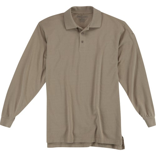 5.11 Tactical Professional LS Polo Shirt - Silver Tan