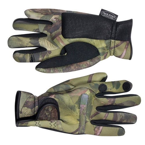 Jack Pyke Neoprene Concealment Gloves - Woodland
