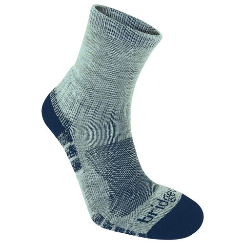Bridgedale Hike Lightweight Merino Performance Trail Ankle Outdoor Socks - Silver Navy