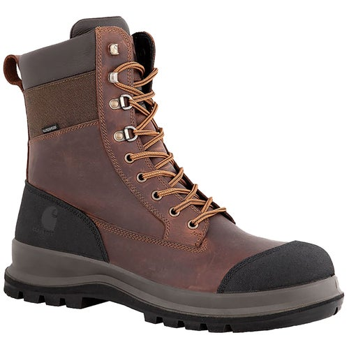 "Carhartt Detroit 8"" S3 Waterproof High Boot Safety Boots - Dark Brown"