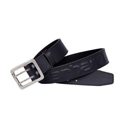Carhartt Logo Leather Belt - Black