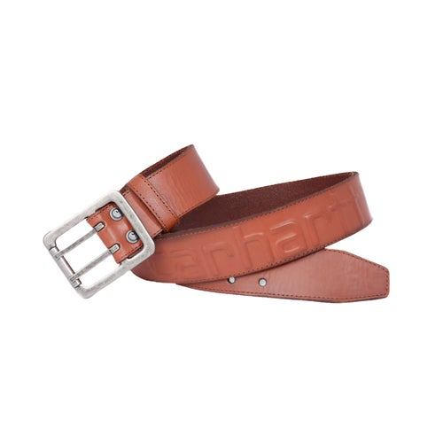 Carhartt Logo Leather Belt - Brown