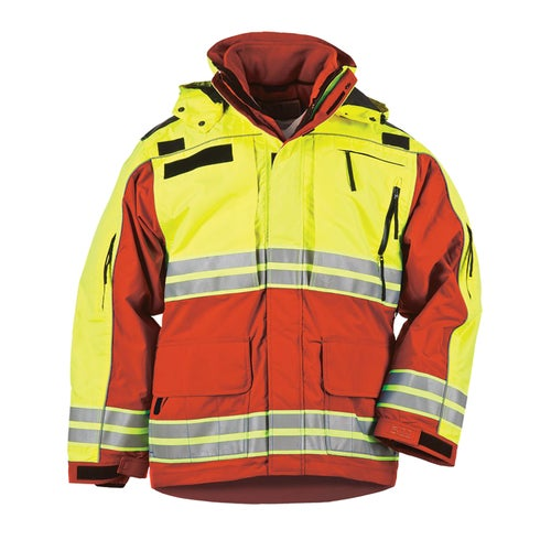5.11 Tactical Responder Hi-Vis Parka Jacket - Range Red