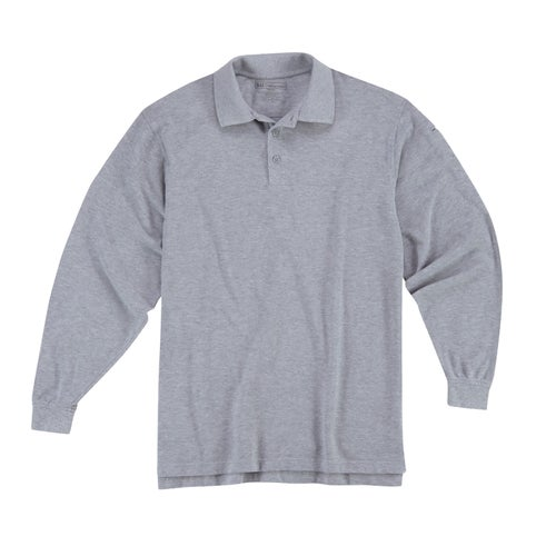 5.11 Tactical Professional LS Polo Shirt - Heather Grey