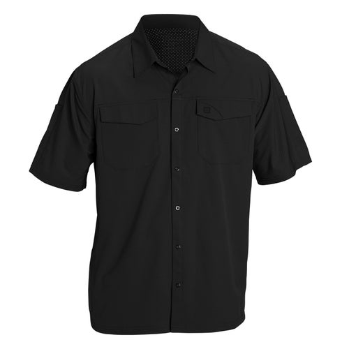 5.11 Tactical Freedom Flex Woven Short Sleeved Shirt - Black
