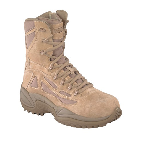 Reebok Military Rapid Response 8in Side Zip Boots - Tan