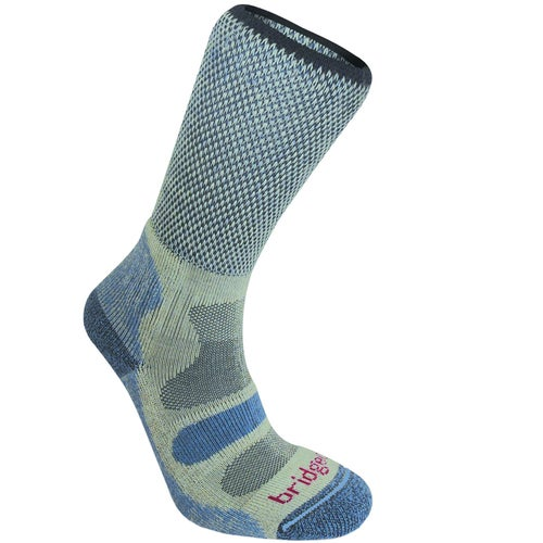 Bridgedale Hike Lightweight Cotton Cool Comfort Womens Outdoor Socks - Smoky Blue
