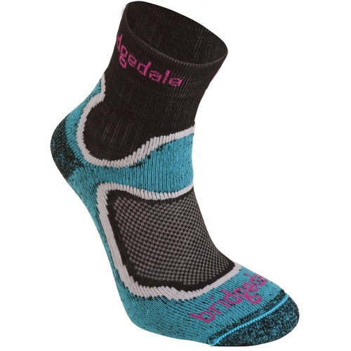Bridgedale Speed Trail Sport Lightweight T2 Merino Cool Comfort Womens Outdoor Socks - Turquoise