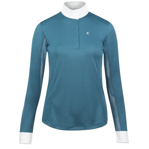 abaaf13f9e4d4 Horze Blaire Long Sleeve Ladies Competition Shirt - Indian Teal