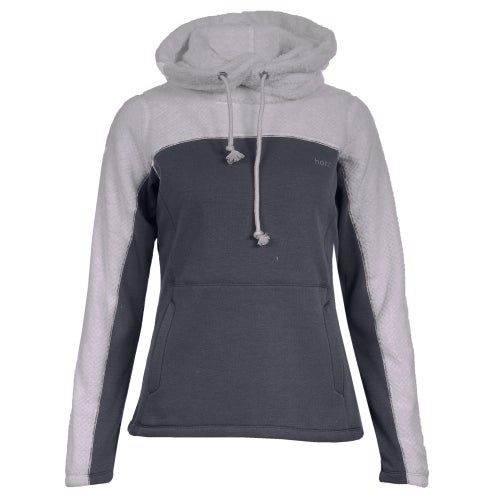 961d2aad71a8 Horze Luanna Fleece Womens Pullover Hoody - Polar Grey Navy