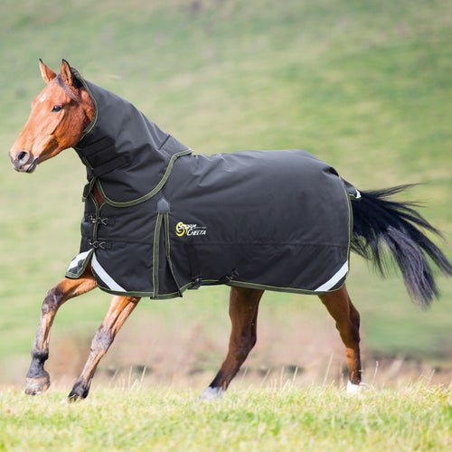 Shires Stormcheeta 300g Rug And Neck Set Turnout Black Yellow