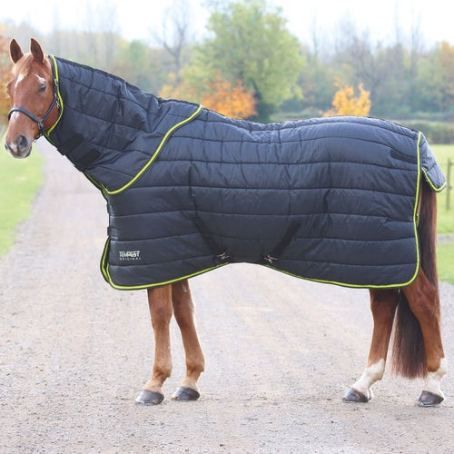 Shires Tempest 300g Rug And Neck Set Le Black Lime