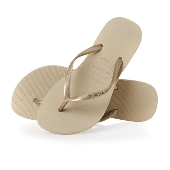33ed2da710474 Havaianas Slim Womens Sandals - Sand Grey Light Sand