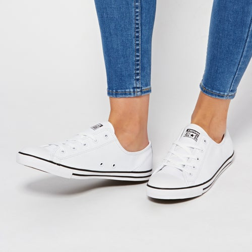 Converse Chuck Taylor All Stars Dainty Leather Womens Shoes ... f45f4fcbe