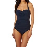 Seafolly Twist Bandeau Maillot Womens Swimsuit - Indigo