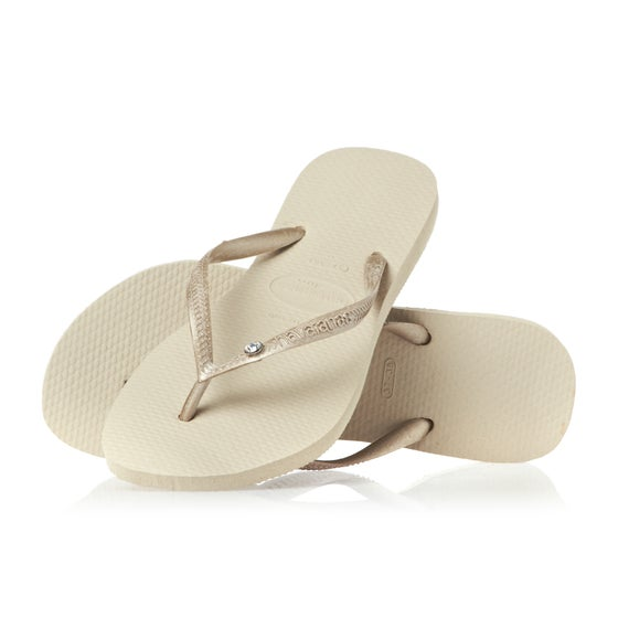 6be5643c177d92 Havaianas. Havaianas Slim Crystal Glamour Womens Sandals - Sand Grey Light  Gold