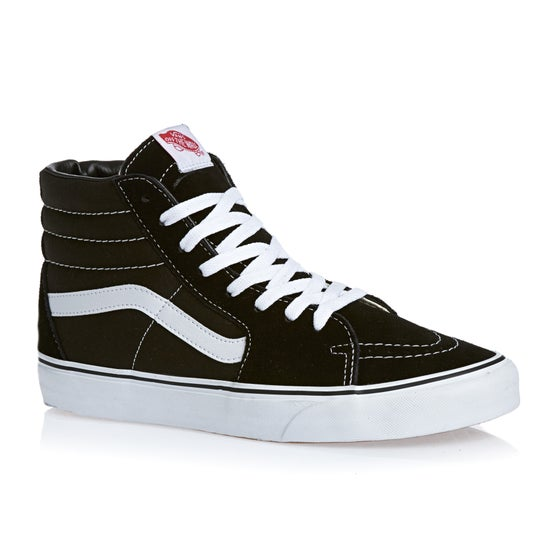31030d2aa534 Vans. Vans Sk8 Hi Shoes - Black White