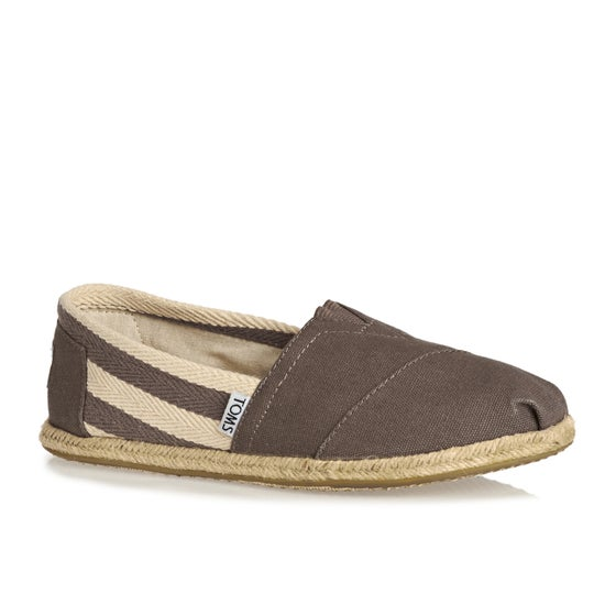 094b99fd86f Toms University Classic Alpargata Womens Slip On Shoes - Dark Grey Stripe