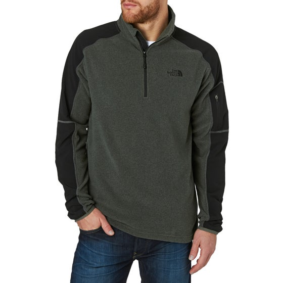 04ebcac8595b North Face Glacier Delta Quarter Zip Fleece - TNF Dark Grey Heather