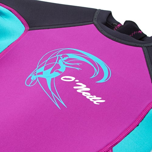 O Neill 2mm Toddler Reactor Back Zip Shorty Girls Wetsuit available ... 0b9c7c9b6