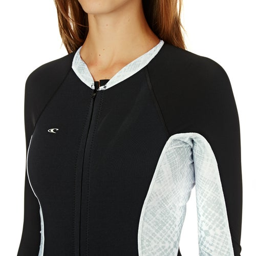 O Neill Womens Superlite Long Sleeve Booty Cut Womens Rash Vest
