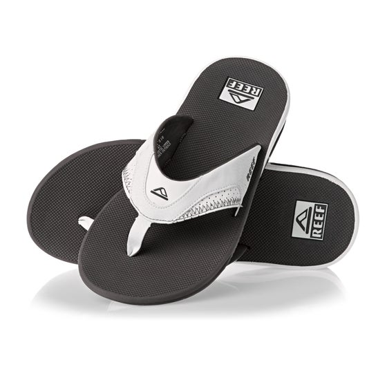 f92bc003b1e Reef Fanning Sandals - Grey White