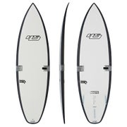 Haydenshapes White Noiz FF Surfboard - Clear